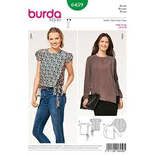 Blouse Sewing Pattern Stunning Misses Mock Wrap Blouse Burda Sewing Pattern 48 Sew Essential