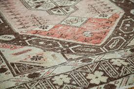 bold brown pink rug