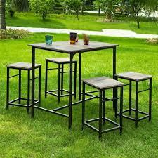 Sobuy Ogt11 N Ensemble Table De Bar Bistrot 4 Tabourets Avec