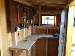 sy workbench and peg board to maximize small space