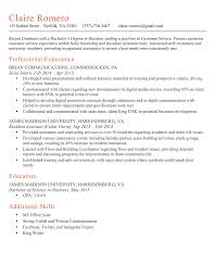 The   Second Resume Challenge Answers  Keep or Trash  Resume Genius   Resume Claire Romero Good Milano
