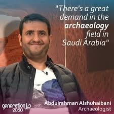 "Generation 2030 on Twitter: ""He is one of the few Saudi archaeologists who  participate, alongside French scientists, in deciphering the Nabataean  heritage in #AlUla. Discover Abdulrashman's story on #generation2030…  https://t.co/NJtfGLiTBB"""