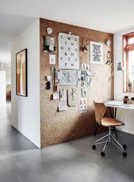 Office diy projects Organize Office Cork Board Wall In An Office Area Diy Projects Omegapurecom Diy Projects Cork Board Wall In An Office Area Diy Projects To