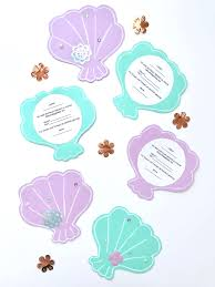Einladungskarten Für Meerjungfrauen Geburtstag Vorlagen Freebie