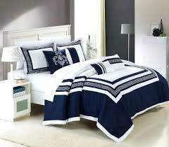 chic home 7 piece cotton comforter set hotel collection embroidery design bedding blue sets