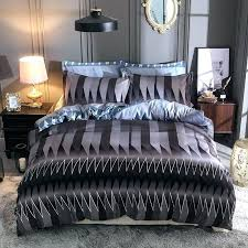 striped duvet cover king pillow cases single double queen super size black and white vertical black and white striped bedding