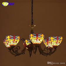 fumat tiffany pendant light dragonfly stained glass lightings for living room dining room artistic led large pendant lamps tiffany pendant lamp dragonfly