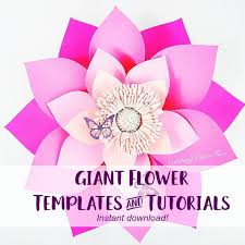 Paper Flower Templates Free Download Large Paper Flowers Backdrop Giant Paper Flowers Template For A