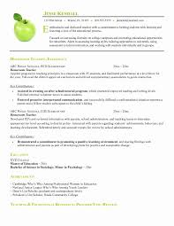 Teacher Resume Template Word Awesome 40 Unique Stock Of Free Teacher Resume Templates Microsoft Word