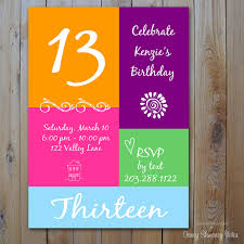 free printable 13th birthday party invitations birthday invitations