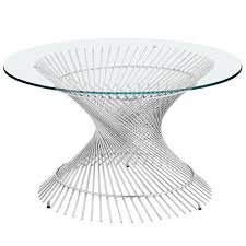 silver spiral coffee table base