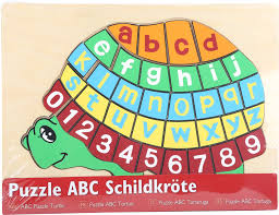 home wooden puzzle abc turtle