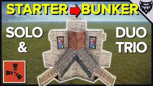 Rust Clan Base Design 2019 Starter To Main Rust Bunker Base Design Rust Steam