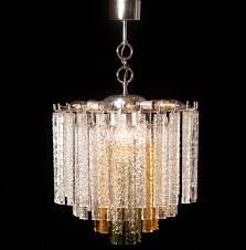 popular glass chandelier regarding murano tri color glass chandelier from venini 1960s for at
