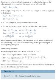 on this page you will find help on the quadratic formula topic