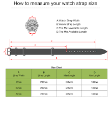 Watch Band Width Size Chart Us 9 59 20 Off High Quality Vintage Crazy Horse Genuine Leather Nato Watchband Brown Watch Straps 18mm 20mm 22mm Small Hole In Watchbands From