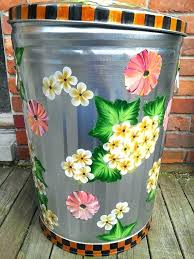 20 gallon bucket. 20 Gal Bucket Gallon Hand Painted Can Plastic With Lid Buckets Handles