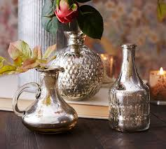 eclectic mercury bud vases set of 3