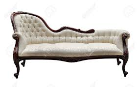 white vintage couch. Vintage Style Couch Isolated On White Stock Photo - 43764685