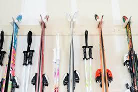quick easy diy ski storage rack old