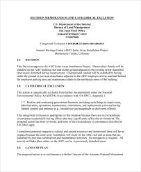 Sample Decision Memo 19 Documents In Pdf Word