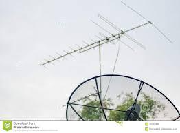 Tv Dish Antenna Are Designed Satellite Dish And Tv Antenna Stock Photo Image Of