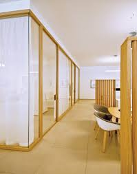Designer demountable wood office partitions classic and modern