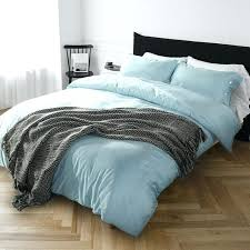 bed cover sets pure cotton solid color bedding set light blue duvet cover set bed sheet