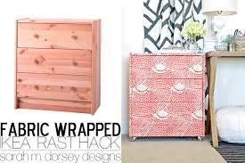 diy ikea hack dresser. Ikea Rast Dresser Hack   Fabric Wrapped With Custom Ring Pulls And Acrylic Casters Diy