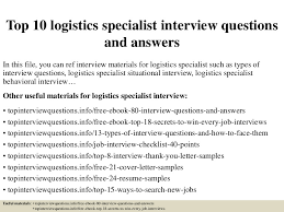 Resume Questions Enchanting Top 40 Logistics Specialist Interview Questions And Answers