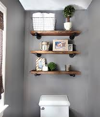 Bathroom wall art decor bathroom sign inspirational motto canvas prints (with solid wood inner frame) (bathroom, 6 x 17 inch) 4.3 out of 5 stars. 42 Bathroom Shelf Ideas To Keep Your Space Uncluttered