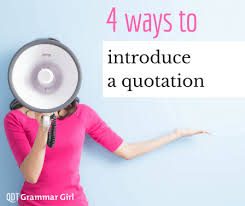 When To Use Commas Before Quotations