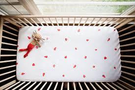 Hand-Stamped Strawberry Crib Sheet ...