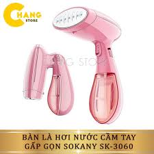 Bàn là hơi nước cầm tay gấp gọn Sokany SK-3060 hơi nước được phun tỏa đều,  dễ dàng sử dụng