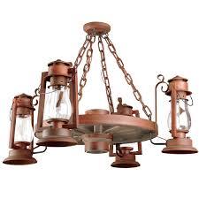 pioneer wagon wheel chandelier side lantern mount