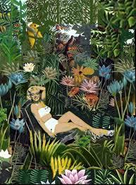 marilyn in the garden of eden collage digital arts 10x8x0 1 in