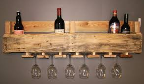 pallet wine glass rack. Wood Pallet Wine And Glass Rack C
