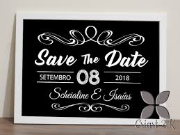 Save The Date No Photo Placa Save The Date