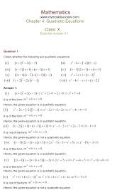 quadratic equation exercise math chapter 4 quadratic equations exercise ncert solutions for class 10 maths quadratic