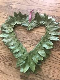 diy spring bay leaf wreath guide to creating a rustic heart green wreath with fresh
