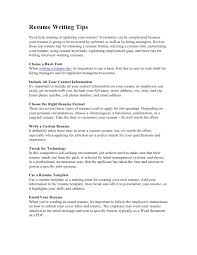 Important Resume Tips Resume Writing Tips