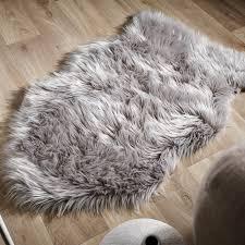 john lewis partners synthetic fake sheepskin rug fake cowhide rug ikea