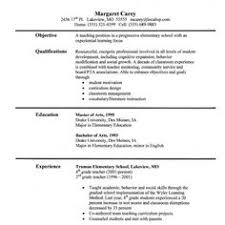 Sample Teacher Resume - Like The Bold Name With Line | Teacher ...
