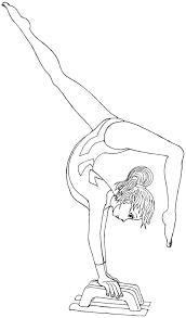 gymnastic coloring pages gymnast free gymnastics sport printable sheets beam