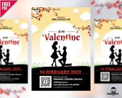Templates For Brochures Free Download Download Valentines Day Flyer Free Psd Psddaddy Com
