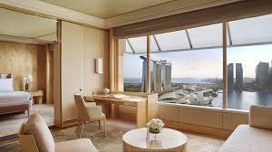 On Suite Bedroom Luxury Suites In Singapore The Ritz Carlton Millenia Singapore