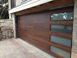 image of glass and wood garage doors