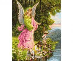 Our Guardian Angels - Premium 40 x 50 cm - Picture format -  www.malennachzahlen-schipper.com