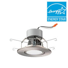 lithonia lighting 5 in brushed nickel led recessed downlighting gimbal module