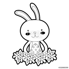 outline of bunny rabbit outline drawing at getdrawings com free for personal use